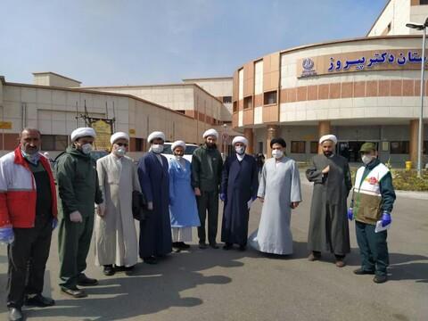 خدمت رسانی جهادی طلاب در بیمارستانهای گیلان