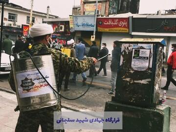 تلاش جهادی طلاب مدارس علمیه مازندران برای مقابله با کرونا