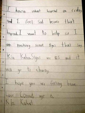 کودک ۷ ساله، ۸۰۰ دلار برای بازماندگان حمله به مساجد جمع آوری کرد.