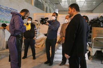 """بالصور/ وثائقي لوكالة أنباء الحوزة عن خدمات طلاب العلوم الدينية في مقبرة """"جنة السيدة المعصومة عليها السلام"""" [(بهشت معصومة(ع)] بقم المقدسة"""