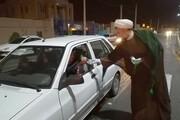 حضور مدیر حوزه یزد در صحنه توزیع مواد ضدعفونی بین شهروندان+ فیلم و عکس