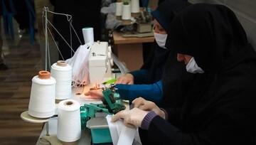 تولید روزانه بیش از ۱۵۰۰ ماسک طبی در حوزه علمیه اندیمشک