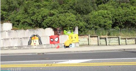 نقاش خیابانی در نیوزیلند با تصویر زن باحجاب به مسلمانان ادای احترام کرد + تصاویر