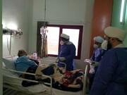 تصاویر/ حضور روحانیون لاهیجان در جمع بیماران کرونایی