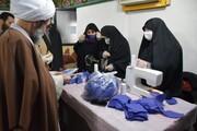 بازدید نماینده ولی فقیه در گیلان از روند تولید ماسک بهداشتی توسط یک گروه جهادی در رشت + عکس