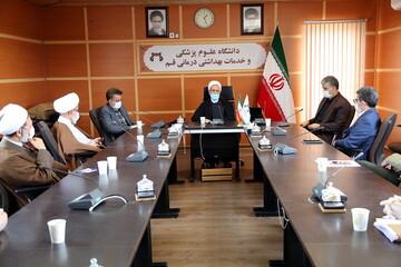 تصاویر/ نشست آیت الله اعرافی با رئیس دانشگاه علوم پزشکی قم