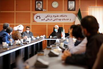 بالصور/ اجتماع آية الله الأعرافي برئيس جامعة العلوم الطبية لمدينة قم المقدسة