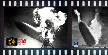 تصویری از سقوط آخرین کشتی هوایی
