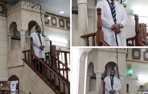اطلاع رسانی پزشک فلسطینی در مسجد از وخامت شیوع کروناویروس