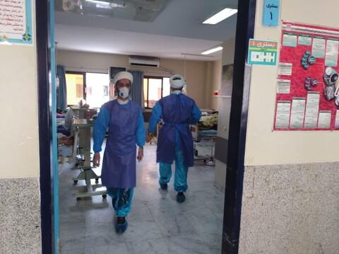 تصاویر/ خدمت رسانی جهادی طلاب مدرسه علمیه امام حسین(ع) بابل در بیمارستان آیت الله روحانی