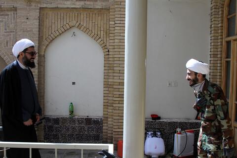 تصاویر / حضور نماینده ولی فقیه در استان در جمع طلاب قرارگاه جهادی، تبلیغی حوزه علمیه همدان