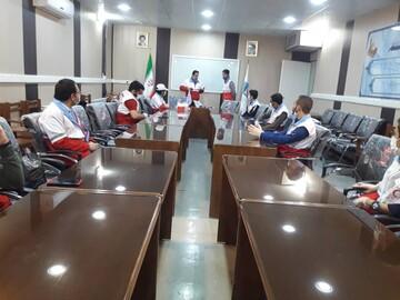 آموزش کنترل تب سنجی ویژه طلاب جهادی و جوانان هلال احمر