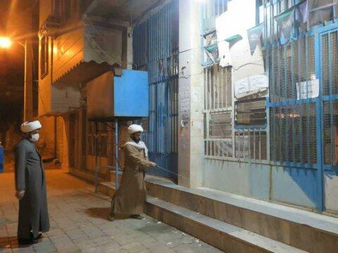 فعالیت جهادی طلاب هرمزگانی در ضدعفونی کردن امکان عمومی شهر