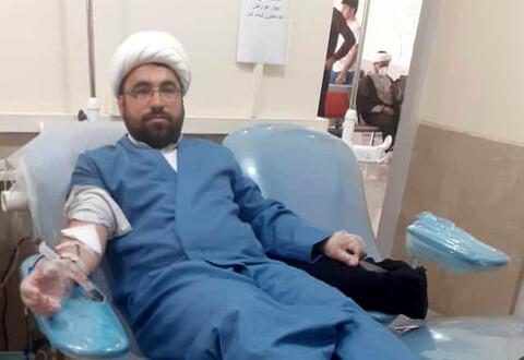نذر اهداء خون روحانیون مسجدسلیمان برای کمک به بیماران