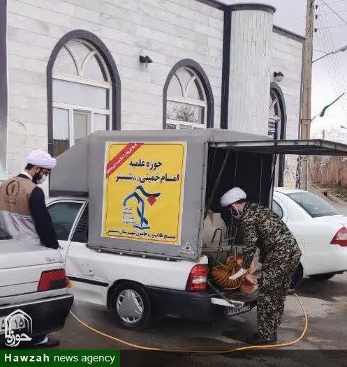 تصاویر / فعالیتهای جهادی طلاب تبریزی و شبستری در مقابله با کرونا