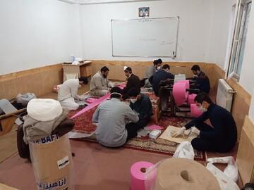 کلیپ | کارگاه تولید ماسک در حوزه علمیه تالش استان گیلان