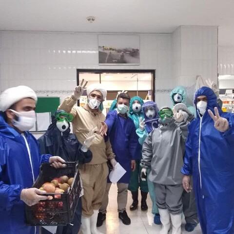 تصاویر/ طلاب جهادی و پرستاران بیمارستان آیت الله روحانی بابل
