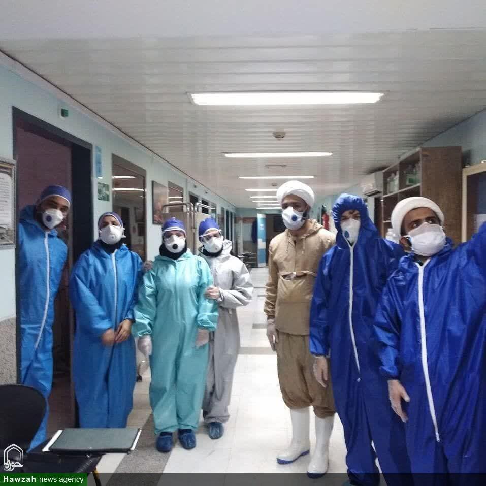 تصاویر شما/ طلاب جهادی و پرستاران بیمارستان آیت الله روحانی بابل