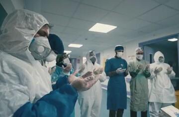 فیلم | تحویل سال در کنار مدافعان سلامت