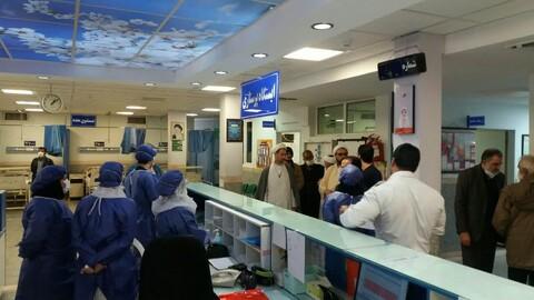 تصویر /  حضور نماینده منتخب مردم همدان در مجلس شورای اسلامی در بیمارستان سینا