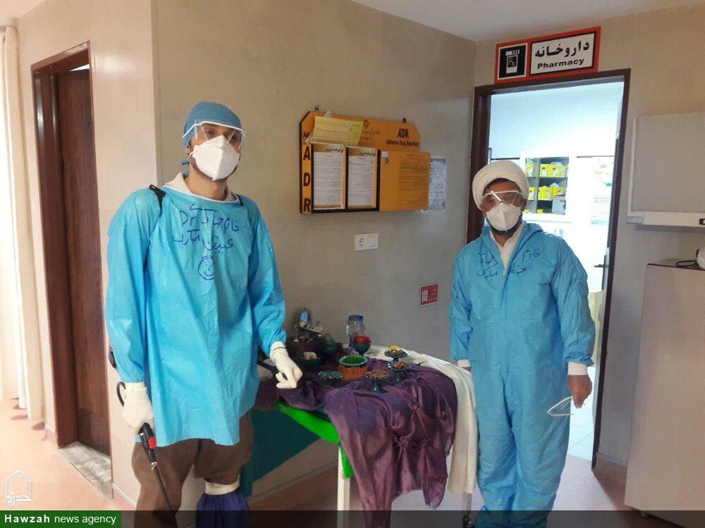 تصاویر شما/ مبارزه طلاب جهادی حوزه های علمیه با کرونا
