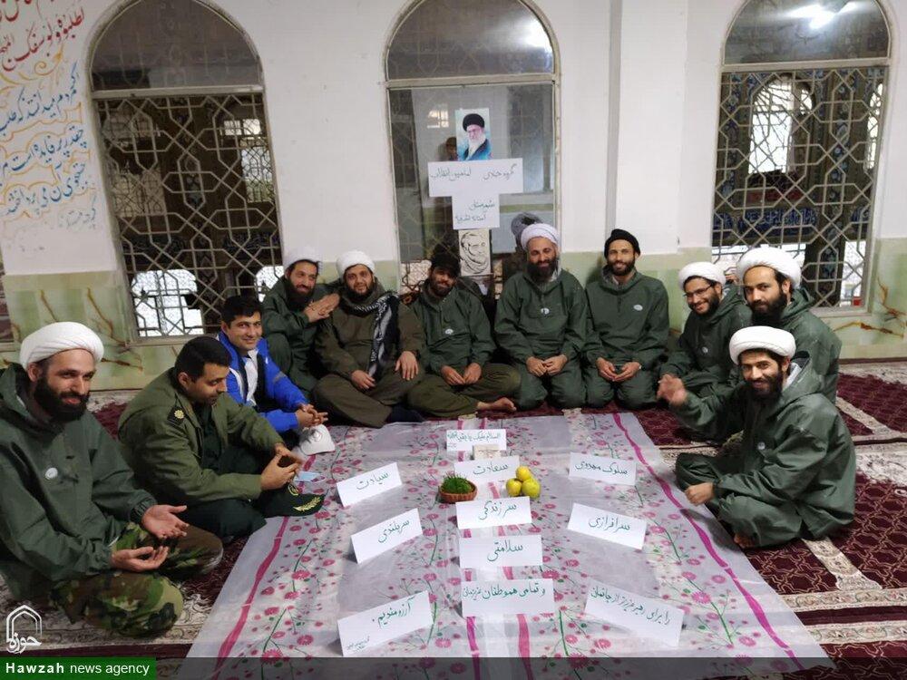 عکس / سفره هفت سین متفاوت طلبههای جهادی