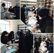 انجام بیش از ۳۵۰ فعالیت حوزه خواهران لرستان برای مقابله با کرونا