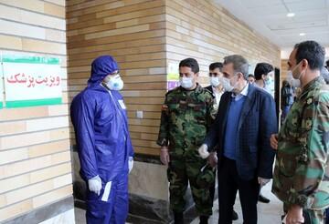 بازدید رئیس دانشگاه علوم پزشکی قم از روند فعالیت بیمارستان سیار ارتش