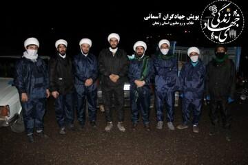 کلیپ | طلاب جهادی زنجان در خط مقدم مبارزه با کرونا
