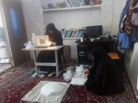 تصاویر / طلاب حوزه علمیه خواهرن جلفا در مبارزه با کرونا