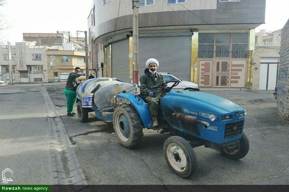 تصاویر/ فعالیت های جهادی طلاب خوی در نوروز ۹۹