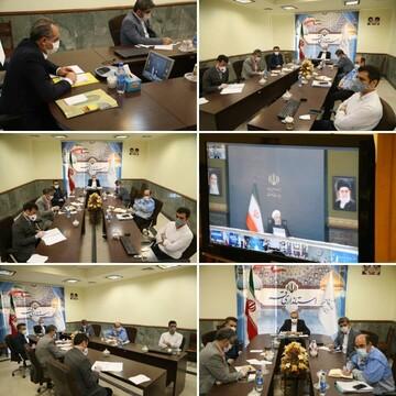 جلسه ویدئو کنفرانس رئیس جمهور با مسئولان بهداشتی قم