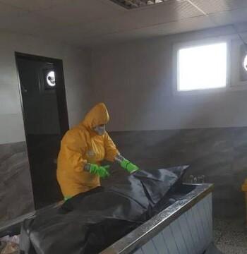 بانوان طلبه جهادگر استان البرز در غسل و تدفین اموات بیماری کرونا مشارکت دارند