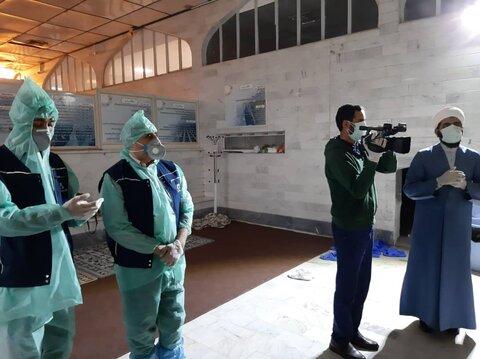 تصاویر/ تهیه فیلم آموزشی ویژه تجهیز اموات کرونایی در خبرگزاری حوزه