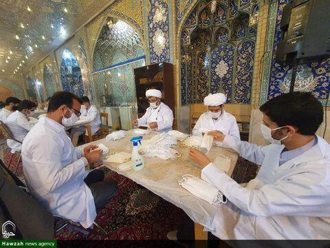 کارگاه مردمی تولید ماسک در حسینیه بنی فاطمه اصفهان