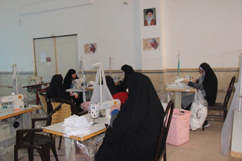 تصاویر/ فعالیتهای طلاب جهادی قرارگاه  حضرت خدیجه (س) قزوین