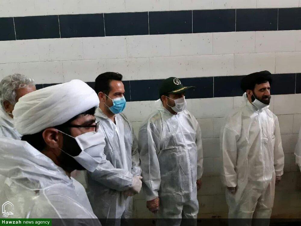 تصاویر/ جهاد طلاب و روحانیون استان سمنان در مبارزه با کرونا(۲)
