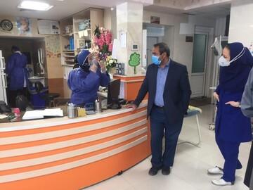 بازدید معاون درمان دانشگاه علوم پزشکی قم از بیمارستان حضرت معصومه(س)