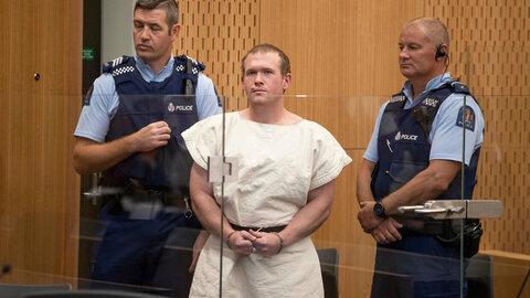 عامل تیراندازی مساجد نیوزیلند اتهاماتش را پذیرفت