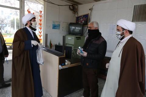 تصاویر/ اقدامات جهادی طلاب و روحانیان اهری در مقابله با کرونا