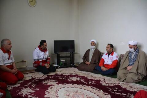 تصاویر / بازدید امام جمعه مرند  از مراکز مبارزه با کرونا