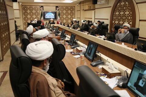 نشست ستاد حوزوی بحران و حوادث غیر مترقبه حوزههای علمیه با آیت الله اعرافی