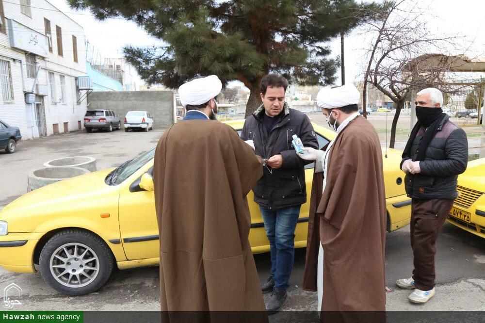 تصاویر/ اقدامات جهادی طلاب و روحانیون اهری در مقابله با کرونا