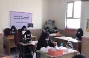 فیلم | تولید ماسک توسط بانوان طلبه مدرسه علمیه کوثر خرمشهر