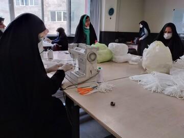 مدرسه الزهرا(س) تبریز کارگاه تولید ماسک راه اندازی کرد+ عکس