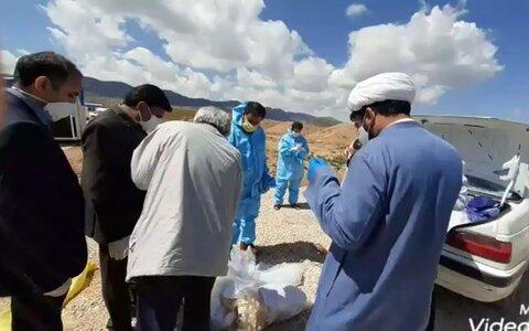 فیلم   تدفین جانباختگان کرونایی توسط طلاب گروه جهادی شهید میثمی حوزه علمیه یاسوج