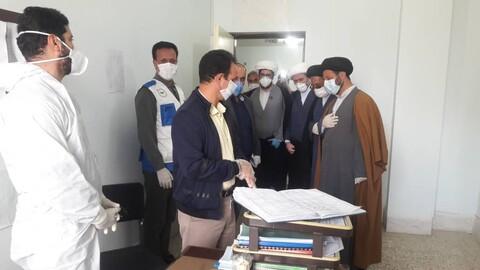 مسؤولو حوزة محافظة لرستان العلمية يتفقدون المراكز الصحية في هذه المحافظة