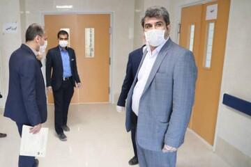 بازدید معاون استاندار قم از روند راه اندازی بیمارستان امیرالمومنین(ع) قم
