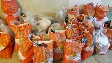 توزیع ۱۲۰ بسته غذایی بین نیازمندان توسط بانوان طلبه تکاب