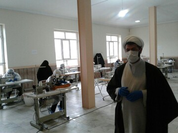 طلاب جهادی ارومیه در خط مقدم مبارزه با کرونا+ عکس